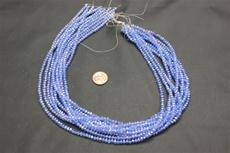 Beads,  Crystal Round 3mm 18 in. long strand Light blue in color