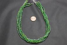 Beads,   Crystal Round 2mm 15 in. long strand Dark green in color