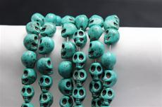 "Beads,  Magnesite 16"" long strand 13 mm high/10mm wide/12.3mm thick/1 strand"