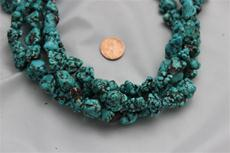 "Beads,  Magnesite nugget 15 1/2"" long strand.Average size is between 7mm-14mm"
