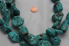 "Beads,  Magnesite nugget 16 1/2"" long strand.Average size is between 10mm-21mm"
