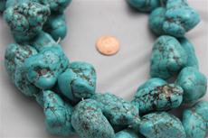 "Beads,  Magnesite nugget 16 1/2"" long strand.Average size is between 21mm-40mm"