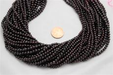 "Red garnet beads. 3.5mm diameter 15"" long strands 1 strand"