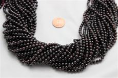 "Red garnet beads. 4.5mm diameter 15"" long strands 1 strand @ $3.99"