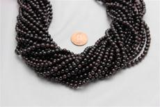 "Red garnet beads. 5mm diameter 15"" long strands 1 strand"