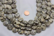 "Feldspar beads.20.5 mm diameter 7 mm thick 15 1/2"" long strand 1 strand for $7.99"