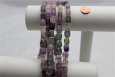 "Beads, Fluorite ,Purple and Green  Strand/15"" long/13.6mm height/9mm square"