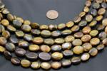 "Bead, Tigers eye Strand/15"" long/14mm height/10mm width/4.8mm thick"