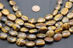 "Beads, Tiger's Eye Strand/15"" long/17.7mm height/12.12mm width/7mm thick"