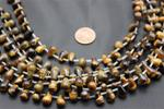 "Beads,  Tiger's Eye Tear Drop Bead Strand/15"" long10.3mm height/7.4mm thick"