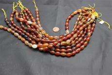 "Beads,  Carnelian Bead Strand/15"" long/14mm height/10.3mm diameter"