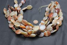 "Beads,  Carnelian Carved Bead Strand/15"" long/25mm height/18.3mm width/6.2mm thick"