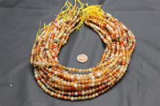 Beads, Carnelian Bead Strand/15.5' long/5.3mm height/5.8mm diameter