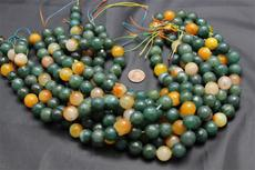 "Beads,  Dyed Carnelian Bead Strand/16"" long/14mm height/14mm diameter"