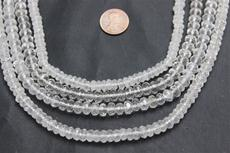 "Beads, Crystal faceted  7.6mm diameter 4.5mm height 16"" long strand. 1 strand"