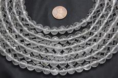 "Beads, Crystal Faceted  10mm diameter  16"" long strand. 1 strand"