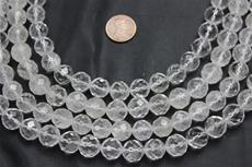 "Beads, Crystal Faceted 12.5mm diameter  16"" long strand. 1 strand"