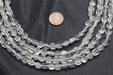 "Beads, Crystal Faceted   16"" long strand. 1 strand"