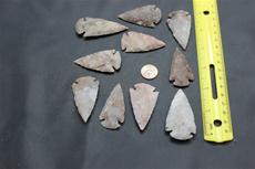 Arrowheads various sizes 2 to 21/2 in. 2.99 ea