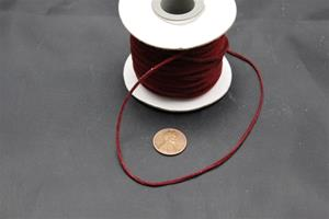 #1019 Velour neck cord 100 ft spool 2mm wide 1.3 mm think $9.99 ea