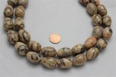 Feldspar beads.round 17.3 mm diameter.24.5mm height 16 long strand 1 strand for $7.99