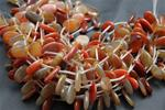 "Beads,  Carnelian Oval Bead Strand/16"" long/23mm height/16.3mm width/6.2mm thick"