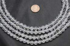 "Beads, Crystal 8mm diameter 4.5mm height 15 1/2"" long strand. 1 strand"