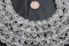 "Beads, Crystal Faceted 16mm diameter  15 1/2"" long strand. 1 strand"
