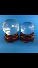 "1 1/2"" Clear Crystal Ball"