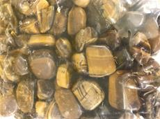 4.4/LB GRADE A TUMBLED POLISHED TIGER EYE